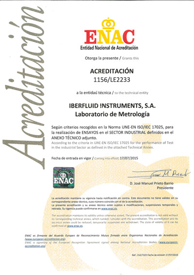 Acreditación ENAC 1156/LE2233