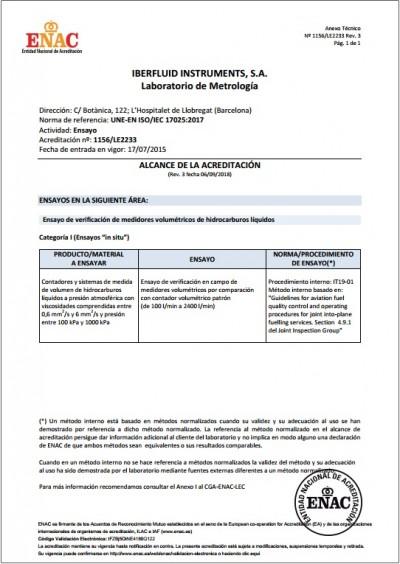 Anexo técnico ENAC 17025