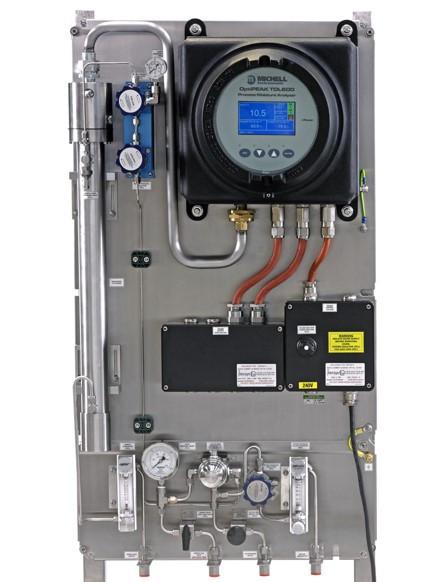 Analizador de punto de rocío para línea de gas natural con inyección de hidrógeno