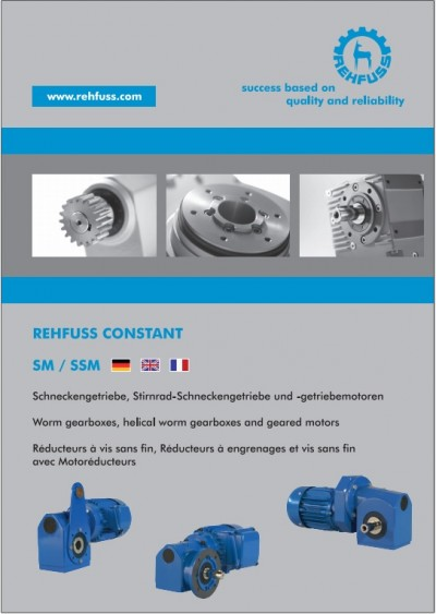 Worm and helical worm gearboxes and geared motors (SM/SSM)