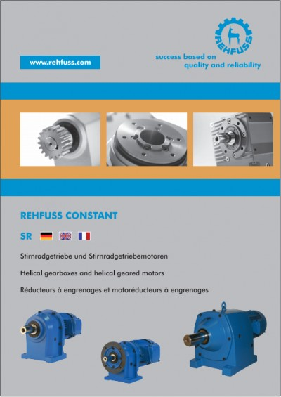 Helical gears and geared motors (SR)