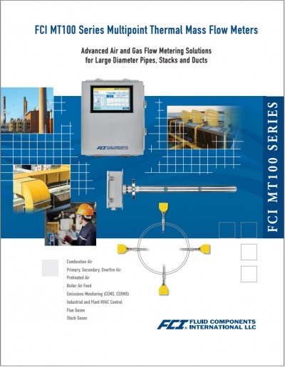 FCI MT100 Series Multipoint Thermal Mass Flow Meters
