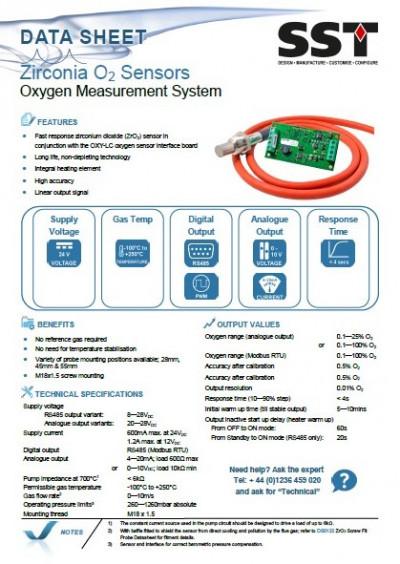 Medida de oxígeno