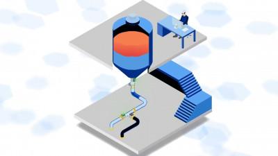 Separación segura de fase líquida, separación de lotes de interfaz utilizando la sonda de tubería Aquasant TSS80